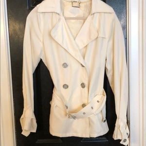 Cream JouJou double breasted trench coat L